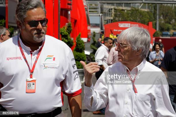 Bernie Ecclestone Vijay Mallaya Grand Prix of Spain Circuit de BarcelonaCatalunya 27 April 2008