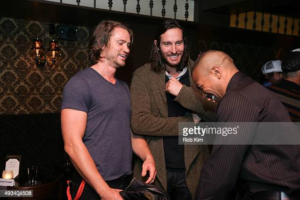 Bernie Gewissler and Drew Taylor attend the afterparty for Ur In Analysis during NYTVF at Bathtub Gin on October 19 2015 in New York City