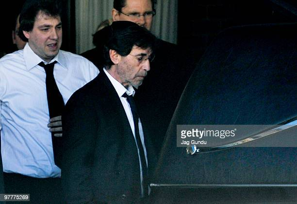 Bernie Haim attends the private funeral service for his son actor Corey Haim at Steeles Memorial Chapel on March 16 2010 in Thornhill Ontario Canada