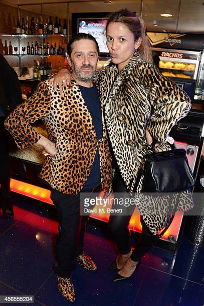 Bernie Katz and Lisa Moorish attend the UK Premiere of Flim The Movie at the Vue Piccadilly on October 2 2014 in London England