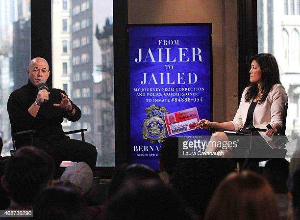 """Bernie Kerik and JuJu Chang attend AOL BUILD Speaker Series:Former NYC Police Commissioner Bernie Kerik Discusses His Book """"From Jailer to Jailed"""" at..."""