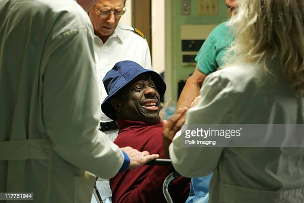 Bernie Kopell and Jimmie Walker during 2006 TV Land Awards Spoof of Grey's Anatomy at Robert Kennedy Medical Center in Los Angeles California United...