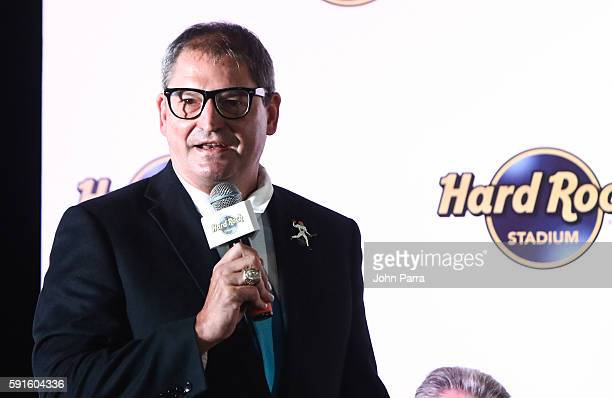 Bernie Kosar attends Hard Rock Stadium Announcement Press Conference at former Sunlife Stadium on August 17 2016 in Miami Florida