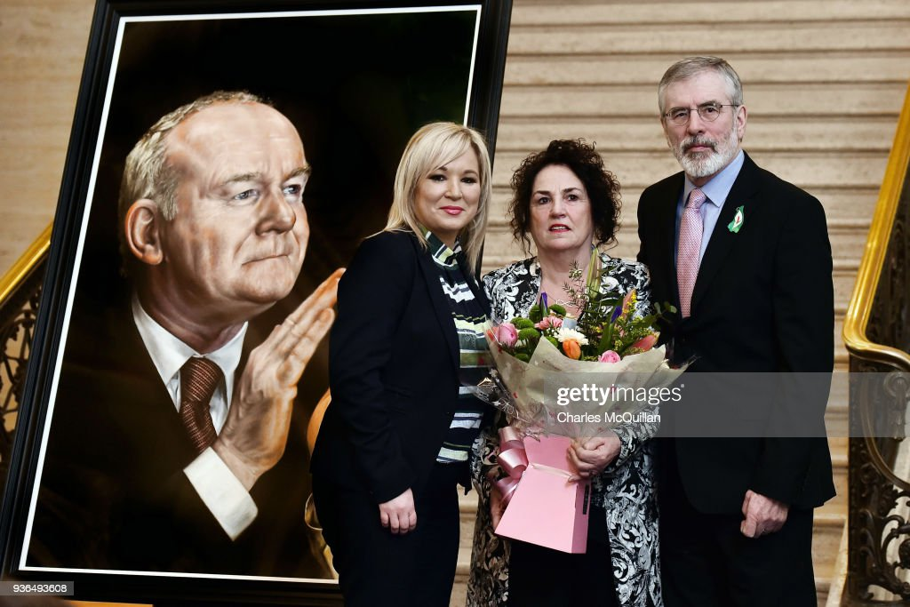 Portait Of The Late Martin McGuinness Exhibited At Stormont
