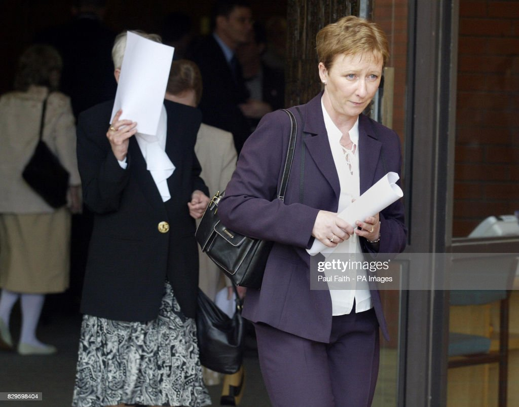 Bernie McQuillan, sister of murdered solicitor Rosemary Nelson, leaves. The public inquiry into the loyalist murder of solicitor Rosemary Nelson gets under way more than six years after her death. Mrs Nelson died after loyalists planted a booby-trap bomb underneath her car outside her Lurgan home in March 1999.