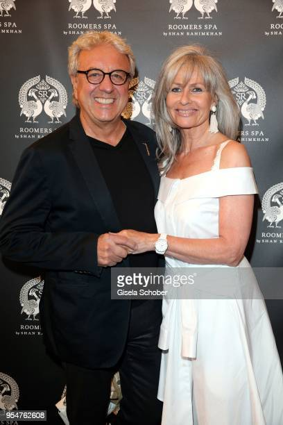 Bernie Paul and his wife Elke Paul during the Grand Opening of Roomers Spa by Shan Rahimkhan on May 4, 2018 in Munich, Germany.