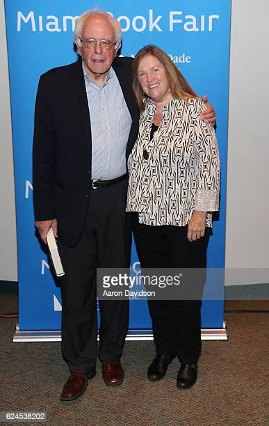 Bernie Sanders and Jane O'Meara Sanders attends on November 19 2016 in Miami Florida