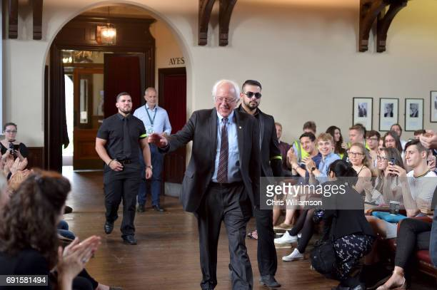 Bernie Sanders arrives to speak at The Cambridge Union on June 2 2017 in Cambridge England The former US presidential candidate gave a speech at the...