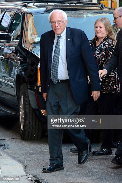Bernie Sanders is seen on September 18 2015 in New York City