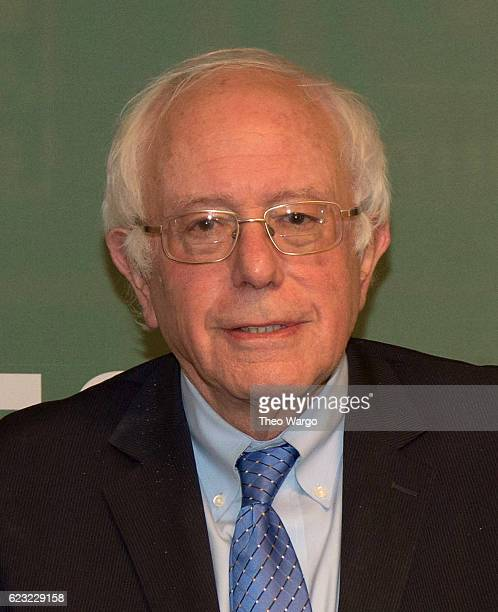 Bernie Sanders Signs Copies Of Our Revolution A Future To Believe In at Barnes Noble 5th Avenue on November 14 2016 in New York City