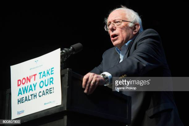 Bernie Sanders speaks during a Stop Trumpcare emergency rally with MoveOnorg at Express Live on June 25 2017 in Columbus Ohio