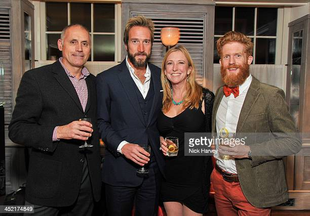 Bernie Shrosbree Ben Fogle Roz Savage and Sean Conway attend Johnnie Walker Blue Label Alfred Dunhill 'A Journey Shared' Dinner at 34 Grosvenor...