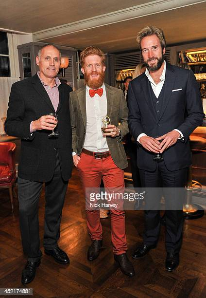 Bernie Shrosbree Sean Conway and Ben Fogle attend Johnnie Walker Blue Label Alfred Dunhill 'A Journey Shared' Dinner at 34 Grosvenor Square on...