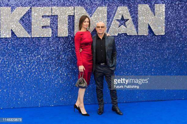 Bernie Taupin and Heather Taupin arrive for the UK film premiere of 'Rocketman' at Odeon Luxe Leicester Square on 20 May 2019 in London England