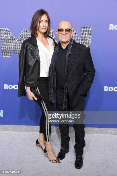 Bernie Taupin and wife Heather Lynn Hodgins Kidd attend the New York premiere of Rocketman at Alice Tully Hall on May 29 2019 in New York City