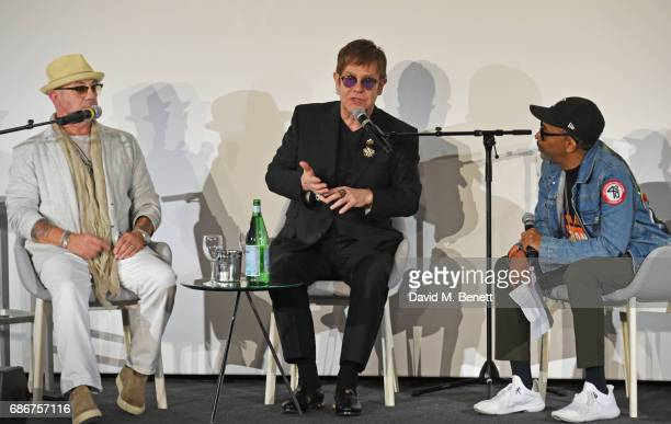 Bernie Taupin Sir Elton John and Spike Lee speak on stage at the World Premiere screening of 'The Cut' Sir Elton John and Bernie Taupin's classics...