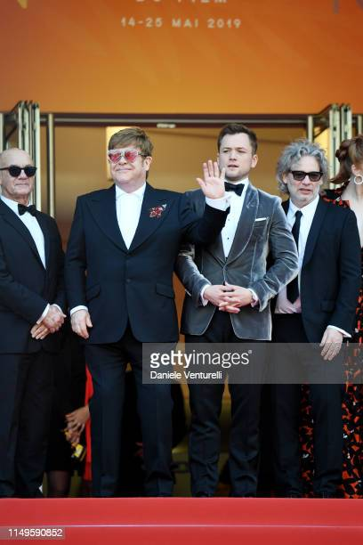 Bernie Taupin Sir Elton JohnTaron Egerton and Director Dexter Fletcher attend the screening of Rocketman during the 72nd annual Cannes Film Festival...