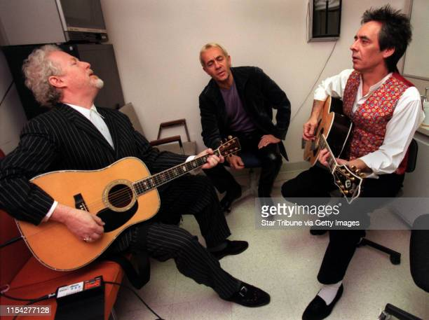 Bernie Taupin's group ìFarm Dogsî The Farm Dogs sing in a dressing room at TV11 in between live performances at the station on KARE 11 Today From...