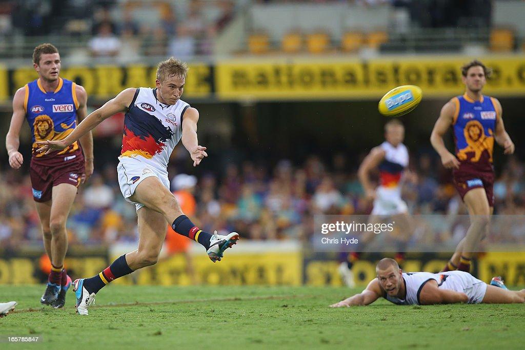 AFL Rd 2 - Brisbane v Adelaide : News Photo
