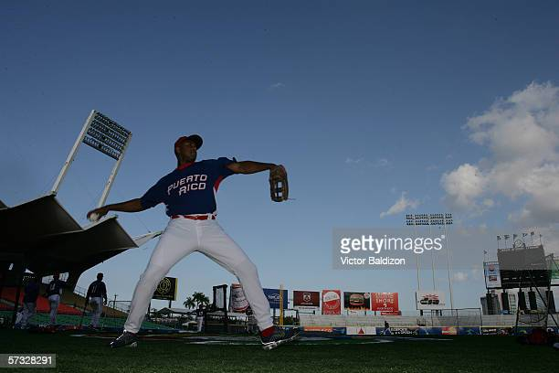 Bernie Williams of Puerto Rico is pictured before the game against Cuba on March 15 2006 at Hiram Bithorn Stadium in San Juan Puerto Rico Cuba...
