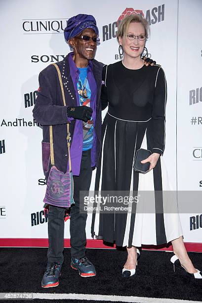 Bernie Worrell and Actress Meryl Streep arrives at the New York premiere of Ricki And The Flash at AMC Lincoln Square Theater on August 3 2015 in New...