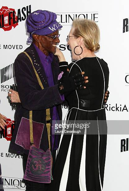 Bernie Worrell and Meryl Streep attend Ricki And The Flash New York Premiere at AMC Lincoln Square Theater on August 3 2015 in New York City