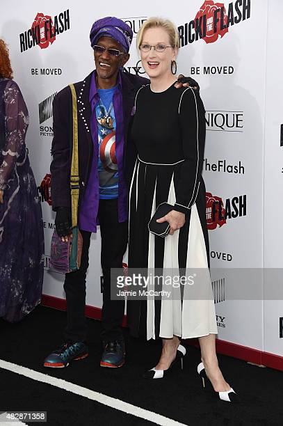 Bernie Worrell and Meryl Streep attend the New York premier of Ricki And The Flash at AMC Lincoln Square Theater on August 3 2015 in New York City