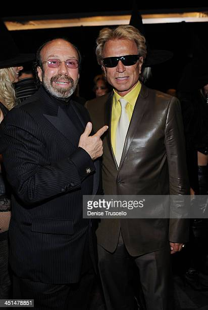 Bernie Yuman and Siegfried Fischbacher attend the Gala Premiere of Criss Angel Believe by Cirque Du Soleil at the Luxor Hotel and Casino on October...