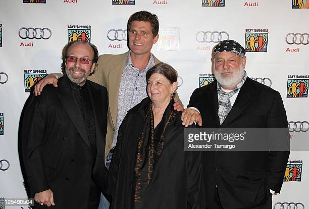 Bernie Yuman Anthony Shriver and Bruce Weber arrive at the Fourteenth Annual Best Buddies Miami Gala Celebrating Fifty Nations on November 19 2010 in...