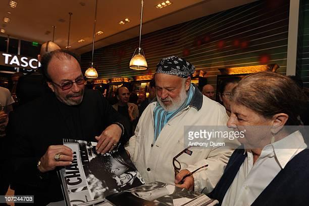 Bernie Yuman Benedikt Taschen and Bruce Weber attends celebration at Taschen store on December 1 2010 in Miami Beach Florida