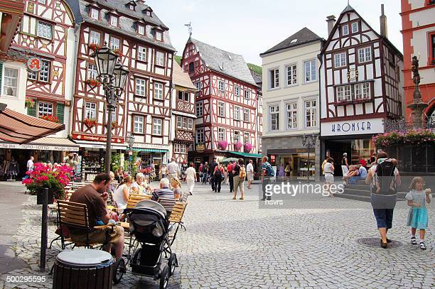 bernkastel-kues on the mosel valley - moselle stock pictures, royalty-free photos & images