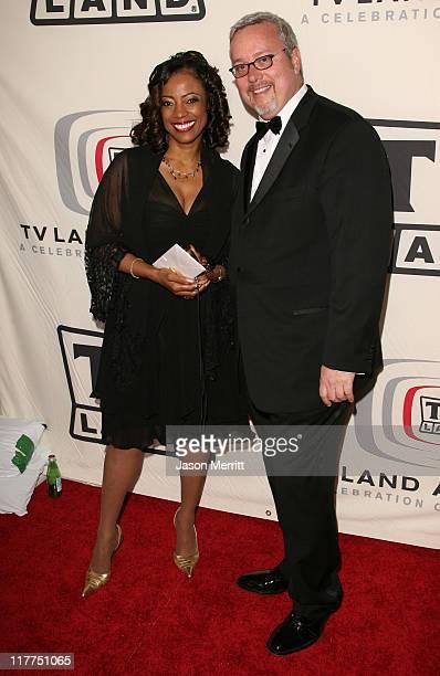 BernNadette Stanis and Larry W Jones President of TV Land