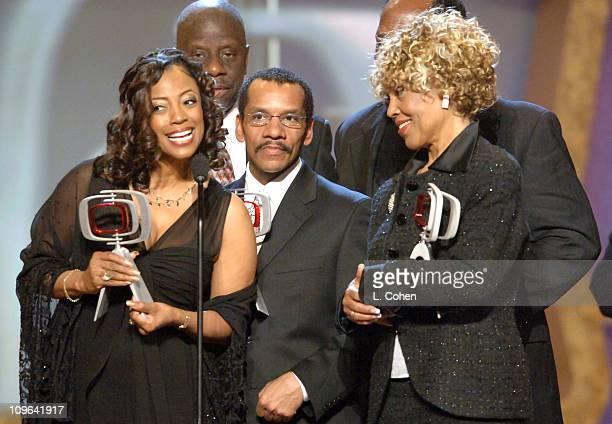 BernNadette Stanis Jimmie Walker Ralph Carter and Ja'net Dubois winners of the Impact Award for Good Times