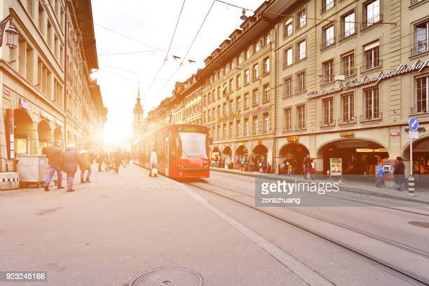 Bern's Old Town and City Traffic, Switzerland