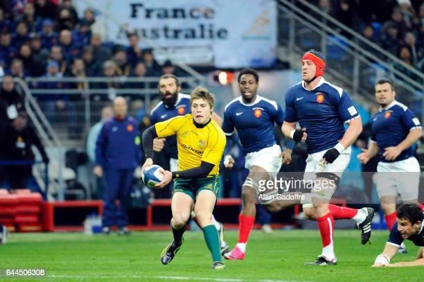Berrick BARNES / Jerome THION France / Australie Test Match Photo Alain Gadoffre / Icon Sport