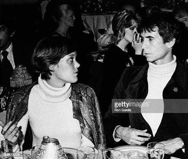 Berry Berenson and Anthony Perkins attend Lorna Luft Opening on October 9, 1973 at St. Regis Hotel in New York City.