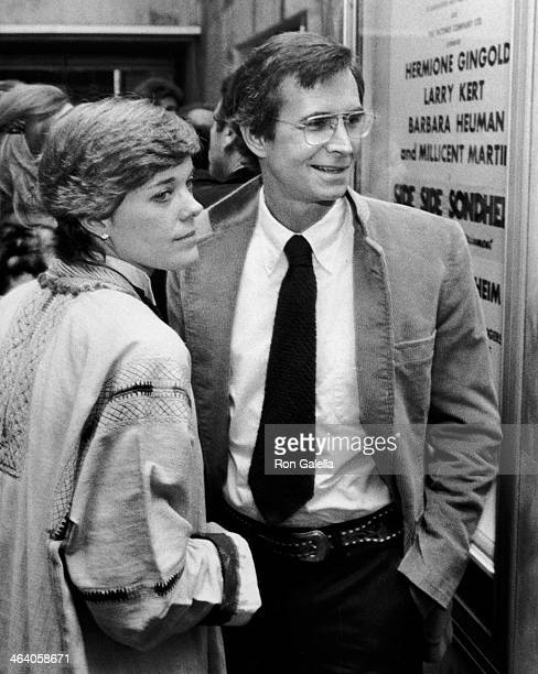 "Berry Berenson and Anthony Perkins attend the opening of ""Side By Side"" on April 7, 1978 at the Huntington Hartford Theater in Los Angeles,..."