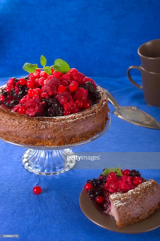 Berry cake : Bildbanksbilder