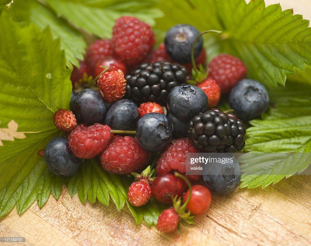 berry fruits - Walderdbeeren : Stock Photo