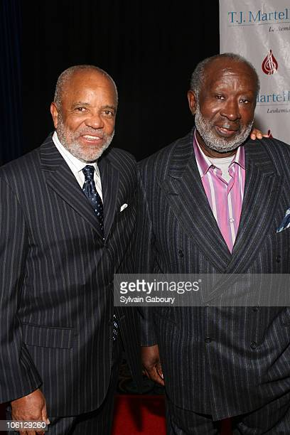 Berry Gordy and Clarence Avant during TJ Martell Foundation's 31st Annual Gala Red Carpet Arrivals and Show at Marriott Marquis at 1535 Broadway...