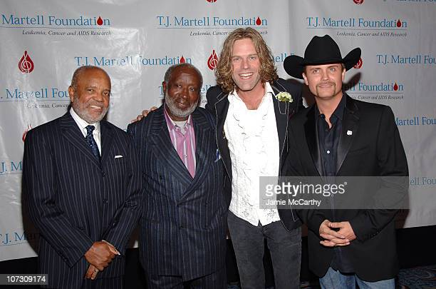 Berry Gordy and Clarence Avant with Big Kenny Alphin and John Rich of Big Rich
