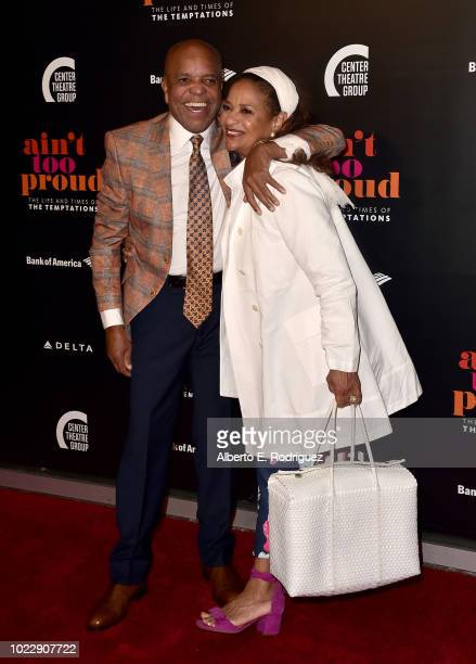 Berry Gordy and Debbie Allen attend the Opening Night of Ain't Too Proud The Life And Times Of The Temptations at the Ahmanson Theatre on August 24...