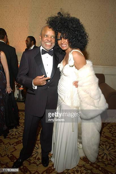 Berry Gordy and Diana Ross at the 2006 Rick Weiss Humanitarian Awards Presented by the Greenburg Family Foundation as a tribute to the late partner...