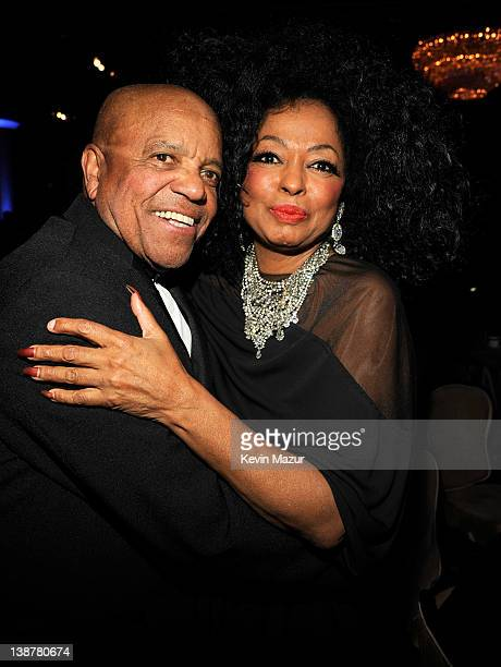 Berry Gordy and Diana Ross attend Clive Davis And The Recording Academy's 2012 PreGRAMMY Gala And Salute To Industry Icons Honoring Richard Branson...
