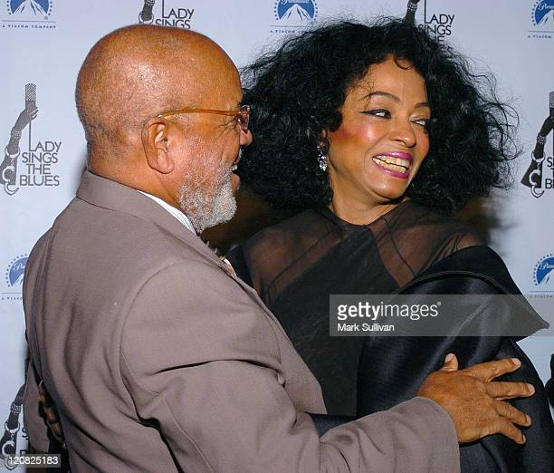 Berry Gordy and Diana Ross during Lady Sings the Blues DVD Release Screening Arrivals at Paramount Theatre in Hollywood California United States