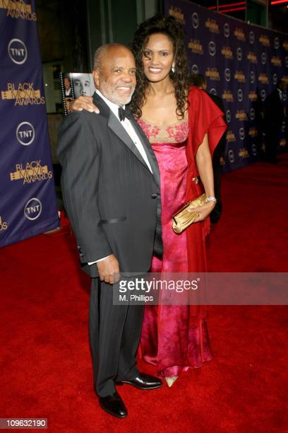 Berry Gordy and Eskedar Gobeze 12556_MP_0329JPG during 2006 TNT Black Movie Awards Red Carpet at Wiltern Theatre in Los Angelses California United...