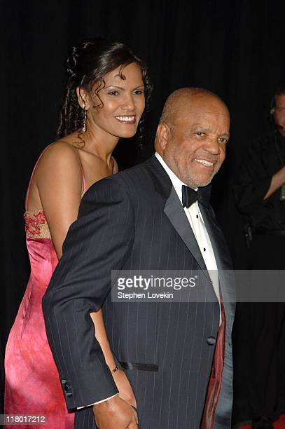 Berry Gordy and Eskedar Gobeze during 36th Annual Songwriters Hall of Fame Induction Ceremony Arrivals at Marriott Marquis Hotel in New York City New...