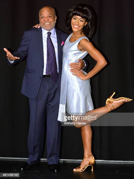 "Berry Gordy and Lucy St Louis attend a photocall for ""Motown - The Musical"" at The Hospital Club on October 5, 2015 in London, England."