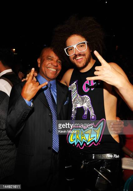 Berry Gordy and Redfoo of LMFAO attend the 2012 Billboard Music Awards at the MGM Grand Garden Arena on May 20 2012 in Las Vegas Nevada