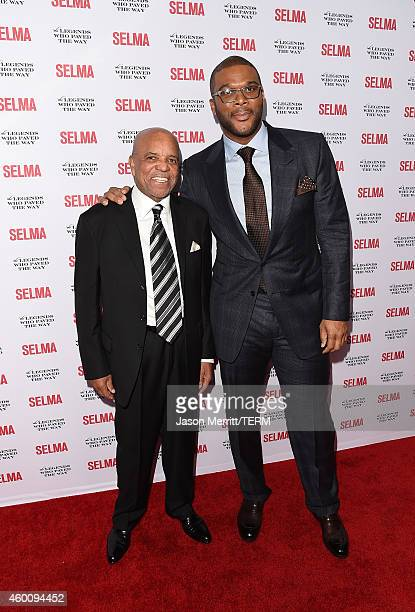 Berry Gordy and Tyler Perry attend the 'Selma' and the Legends Who Paved the Way gala at Bacara Resort on December 6 2014 in Goleta California